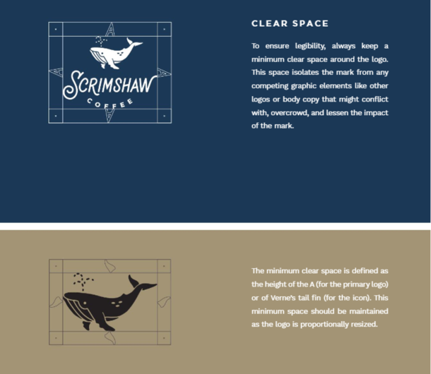 Scrimshaw Coffee, Branding, Brand Guides, Marketing, Logo, Colors, Typeface, Font