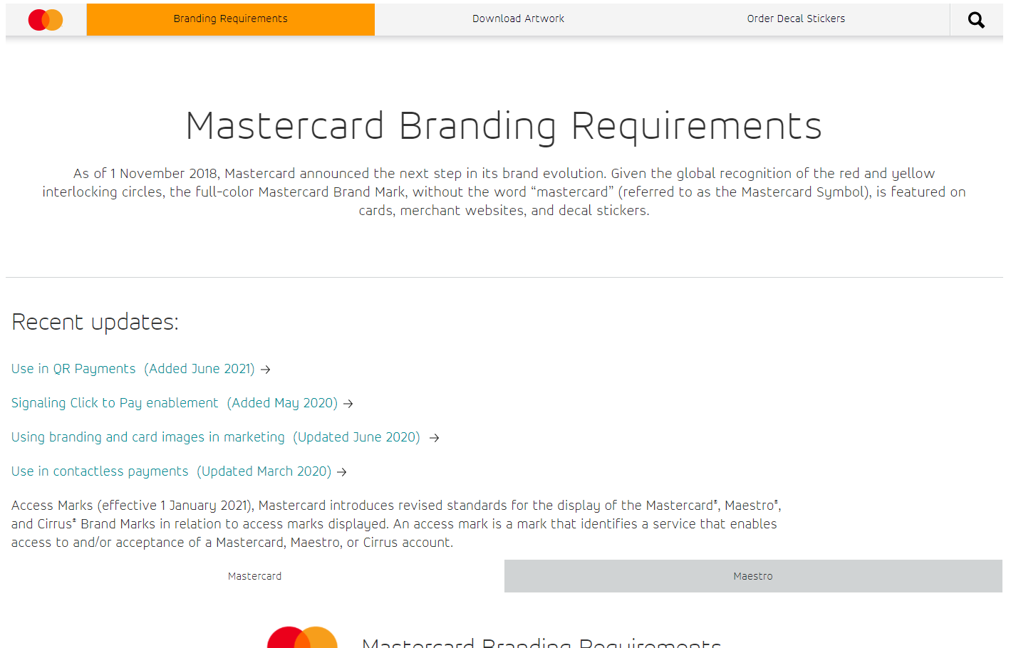 Mastercard's Brand Guide