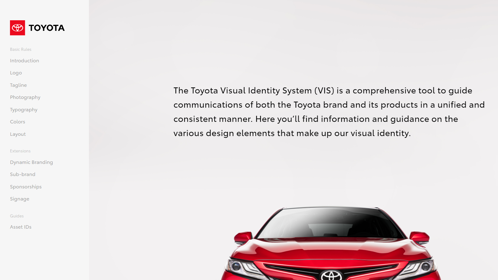 Toyota's Brand Guide