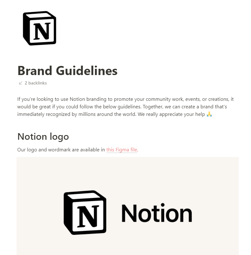 Notion's Brand Guide