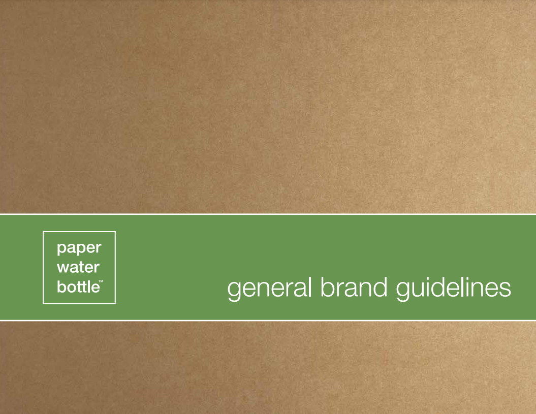 Paper Water Bottle's Brand Guide